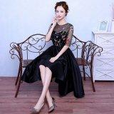 韓国ドレス 花柄 刺繍 シースルー フラワー エレガント 結婚式 二次会 パーティー