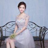 結婚式 二次会 花柄 ワンピース パーティードレス 6タイプ シースルー ゴージャス 大きいサイズ XL 2XL