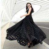 マキシワンピース ロングドレス 黒 ブラック 結婚式 二次会 パーティー ノースリーブ 大きいサイズ XL 2XL