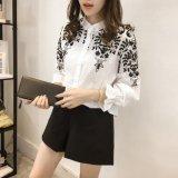 フォークロア 刺繍 東欧 ブラウス トップス ホワイト 白 黒 ブラック