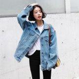 韓国 デニムジャケット Gジャン オーバーサイズ ビッグシルエット