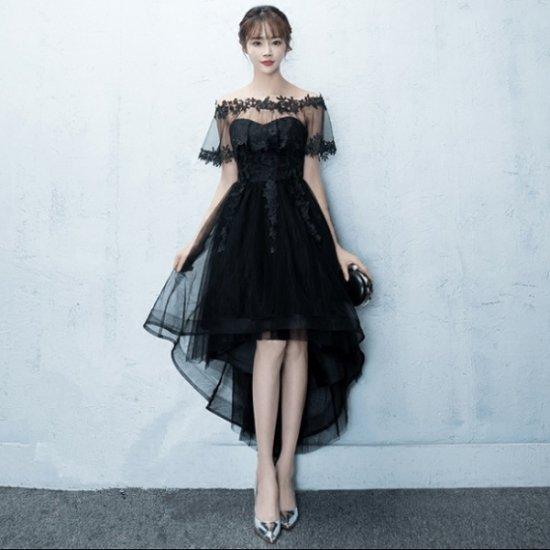 フィッシュテールのマキシワンピース パーティードレス ブラック 大きいサイズ XL 2XL , 韓国ワンピース パーティードレス  通販『liberselect』レディース 結婚式