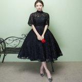 結婚式やパーティーに着て行きたい韓国ワンピース 総レースのミモレ丈のワンピース