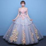 演奏会や舞台などの衣裳で着たいロングドレス 結婚式にも似合うブライダルドレス 花柄刺繍のウェディングドレス