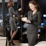 ナイトシーンに似合うスリムなフォーマルワンピース OLやビジネスシーンにおすすめな韓国ワンピース