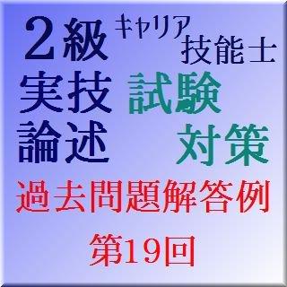 GS219 2級キャリアコンサルティング技能士実技論述解答例 第19回