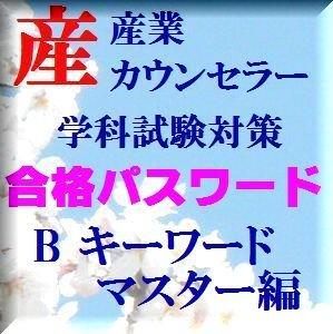 SS001B 産業カウンセラー学科試験対策合格パスワードB キーワードマスター編
