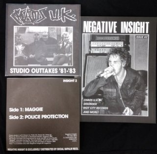 NEGATIVE INSIGHT - issue #2 ZINE + CHAOS U.K. 7