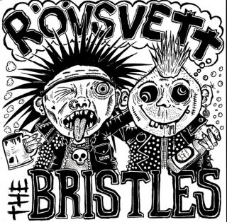 THE BRISTLES / RÖVSVETT - SPLIT EP (GREEN / RED MARBLE VINYL) EP