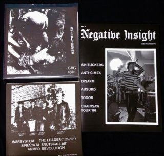 NEGATIVE INSIGHT - issue #3 ZINE + SHITLICKERS 7