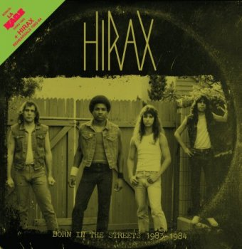 "HIRAX ""Born in the streets 1983/1984"" LP (w. BOOKLET ) (2nd PRESSING)"