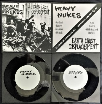 HEAVY NUKES / EARTH CRUST DISPLACEMENT - SPLIT EP (Ltd.30 TEST PRESS) (NUMBERED)