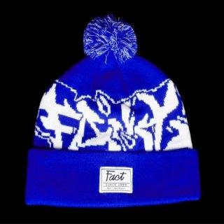 FACT - 公式ニット帽 (ボンボンビーニー・青色) / knit cap (blue)