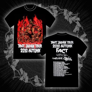 FACT - 公式Tシャツ / FACT JAPAN TOUR 2010 AUTUMN T-SHIRTS (BLACK)