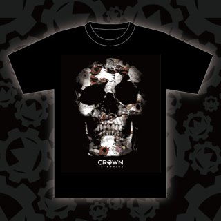 CROWN THE EMPIRE - 公式Tシャツ SKULL T-SHIRTS BLACK (イベント限定デザイン版)