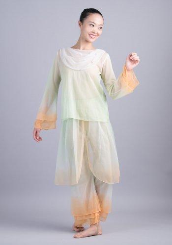 羽衣(黄緑×オレンジ)[レンタル衣装]