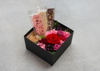【母の日】プリザ&久遠チョココラボBOX