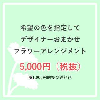 お色味指定OK 生花アレンジ 5,000円お任せ  ※送料込