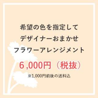 お色味指定OK 生花アレンジ 6,000円お任せ  ※送料込