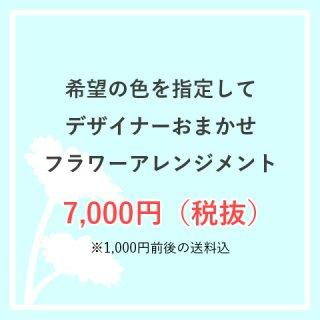 お色味指定OK 生花アレンジ 7,000円お任せ  ※送料込