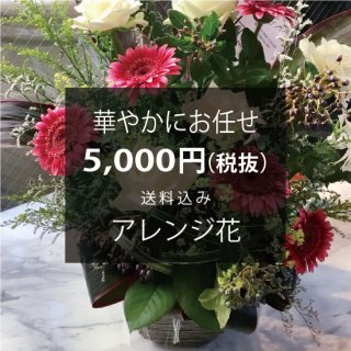 華やかにお任せ アレンジ花 花代3,500円(税抜)+送料