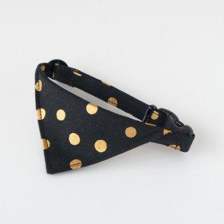 猫 首輪 バンダナ キラキラドット ブラック(黒) セーフティ猫首輪