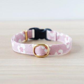 猫 首輪 カントリーフラワー ピンク セーフティ猫首輪