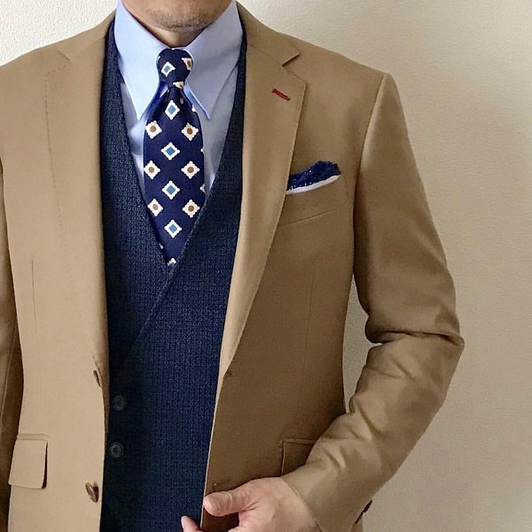 GUY ROVER(ギローバー)BLUEコットンピンオックス/タブカラーシャツ