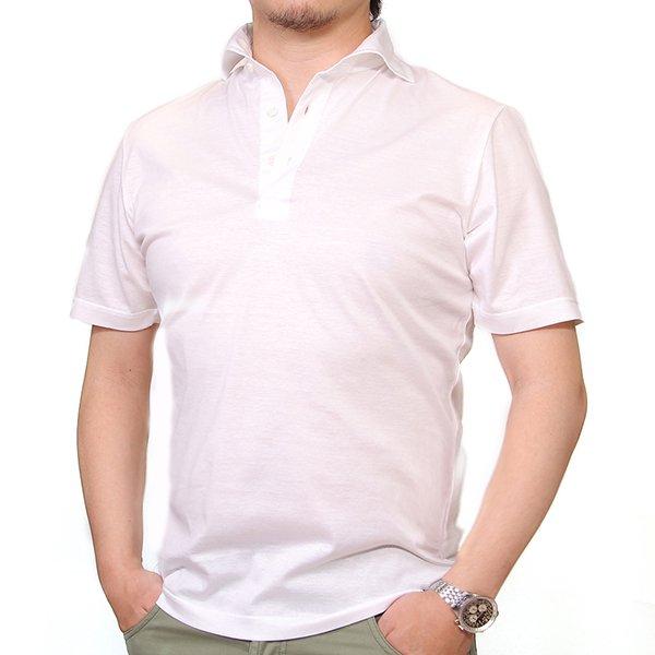 【SALE】 Drumohr(ドルモア) /ホワイト/マーセライズコットン/ポロシャツ