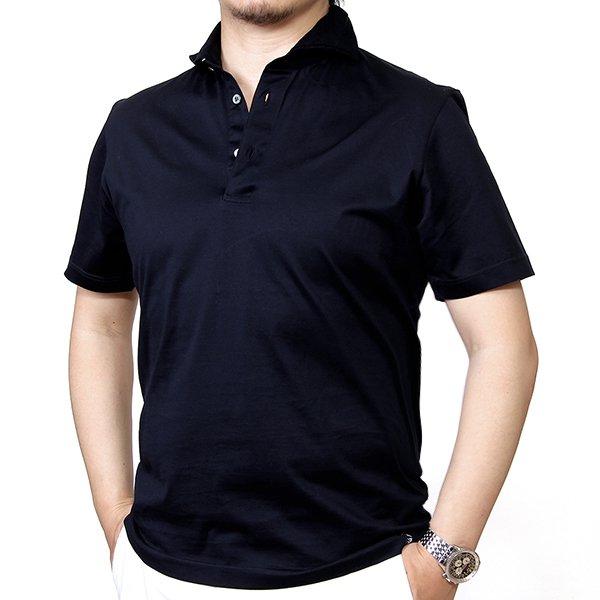 Drumohr(ドルモア) /ネイビー/マーセライズコットン/ポロシャツ