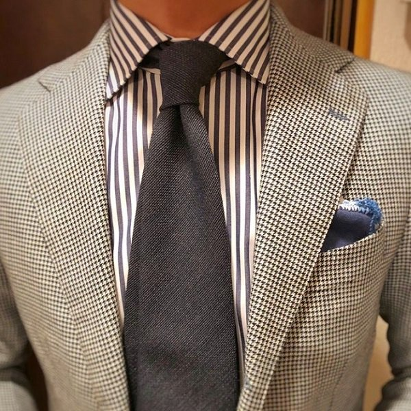 Shibumi(シブミ) Smith Woollens Hopsack Wool Tie - Denim 9� メインイメージ