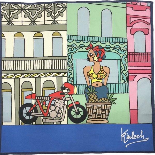 Kinloch (キンロック) / キューバ・ハバナの街並みとハバナ人 / ハンカチ メインイメージ