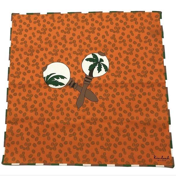 Kinloch (キンロック) / オレンジ / キューバ・マラスカ&コーヒー豆 / ハンカチ メインイメージ