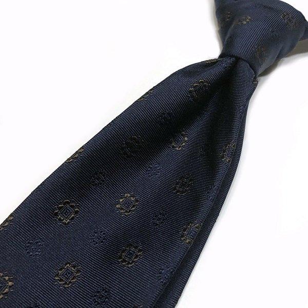 STEFANO BIGI ( ステファノビジ ) / LOIRA / ネイビー / 小紋柄(刺繍) /  シャドーストライプタイ