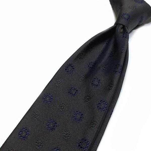 STEFANO BIGI ( ステファノビジ ) / LOIRA / ブラウン / 小紋柄(刺繍) /  シャドーストライプタイ