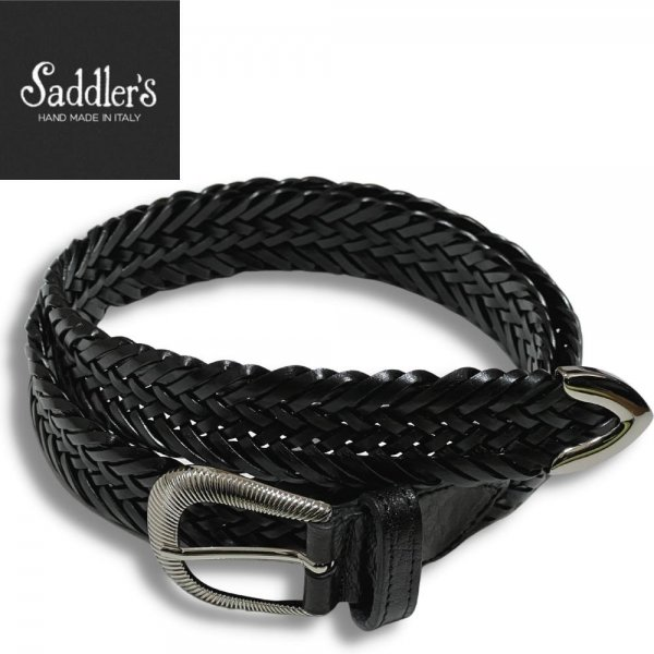 21SSモデル Saddler's (サドラーズ) / ブラック / ウエスタンバックル / プンターレ / レザーメッシュベルト