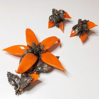 オレンジ花 シルバードメタル デミパリュール 15032511110BE