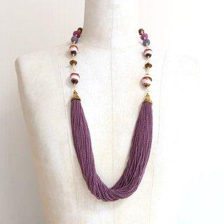 古代紫色のコンテリエネックレス