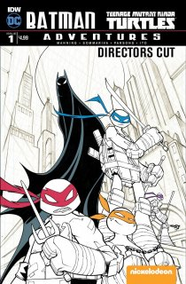 BATMAN TMNT ADVENTURES #1 DIRECTORS CUT