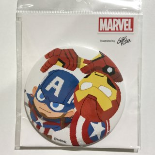 缶バッジ/MARVEL/GuRiHiru/Captain America & Iron Man