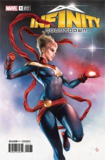 INFINITY COUNTDOWN #1 (OF 5) CAPTAIN MARVEL HOLDS INFINITY V
