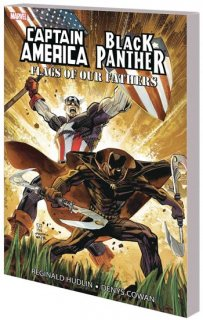 CAPTAIN AMERICA BLACK PANTHER FLAGS OUR FATHERS NEW PTG