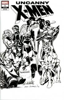 UNCANNY X-MEN #1 COCKRUM HIDDEN GEM B&W WRAPAROUND VAR