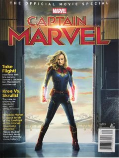 CAPTAIN MARVEL OFF MOVIE SPECIAL MAG NEWSSTAND ED