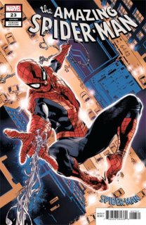AMAZING SPIDER-MAN #23 IMMONEN SPIDER-MAN BLUE RED SUIT VAR