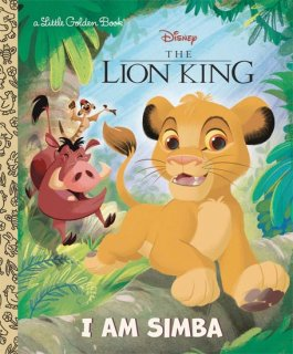 DISNEY LION KING I AM SIMBA LITTLE GOLDEN BOOK