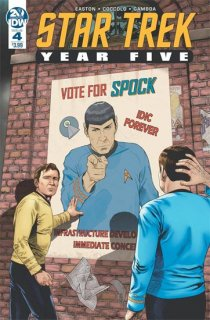STAR TREK YEAR FIVE #4 CVR A THOMPSON