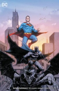 BATMAN SUPERMAN #2 CARD STOCK VAR ED
