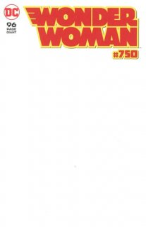WONDER WOMAN #750 BLANK VAR ED