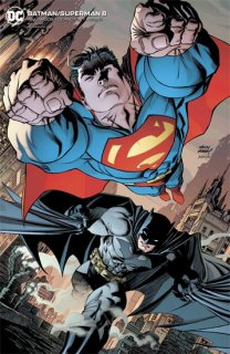 BATMAN SUPERMAN #8 CARD STOCK ANDY KUBERT VAR ED